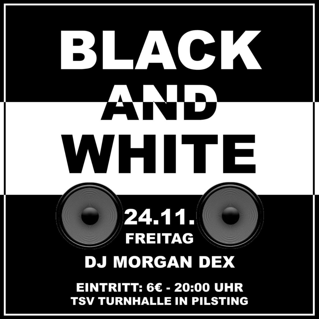 Black and White Party 2017 Beginn 20.00